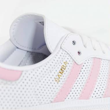 Adidas Samba OG C Bianco Rosa Colore Bianco Taglia Bambina