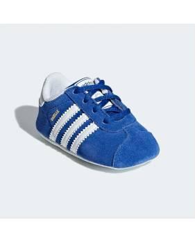 Adidas Gazelle Crib CG6541 blu scarpe da neonato scamosciate
